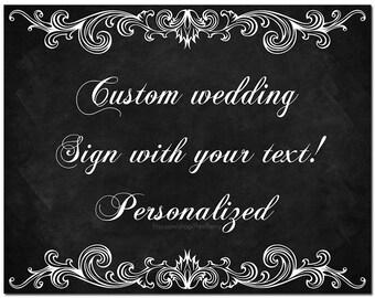 Printable wedding sign Personalized wedding sign Personalized chalkboard wedding sign Custom wedding sign Custom chalkboard wedding sign