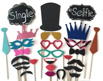Photo Booth Props, Wedding photo booth props, Foam, Photobooth props, Party, Wedding, On a Stick
