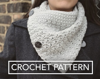 Sparkly Buttoned Cowl Crochet Pattern PDF (The Sparkly Buttoned Cowl Crochet Pattern by Little Monkeys Crochet) Cowl Crochet Pattern
