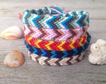 Beach Inspired Chevron Friendship Bracelets - Bestseller