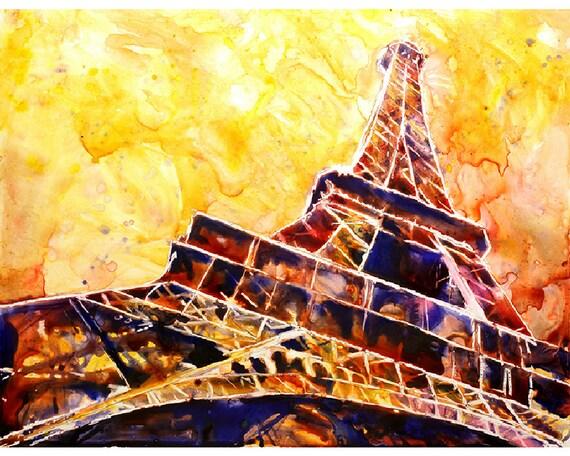 Super Painting of 19th century Eiffel Tower La tour Eiffel in VO26