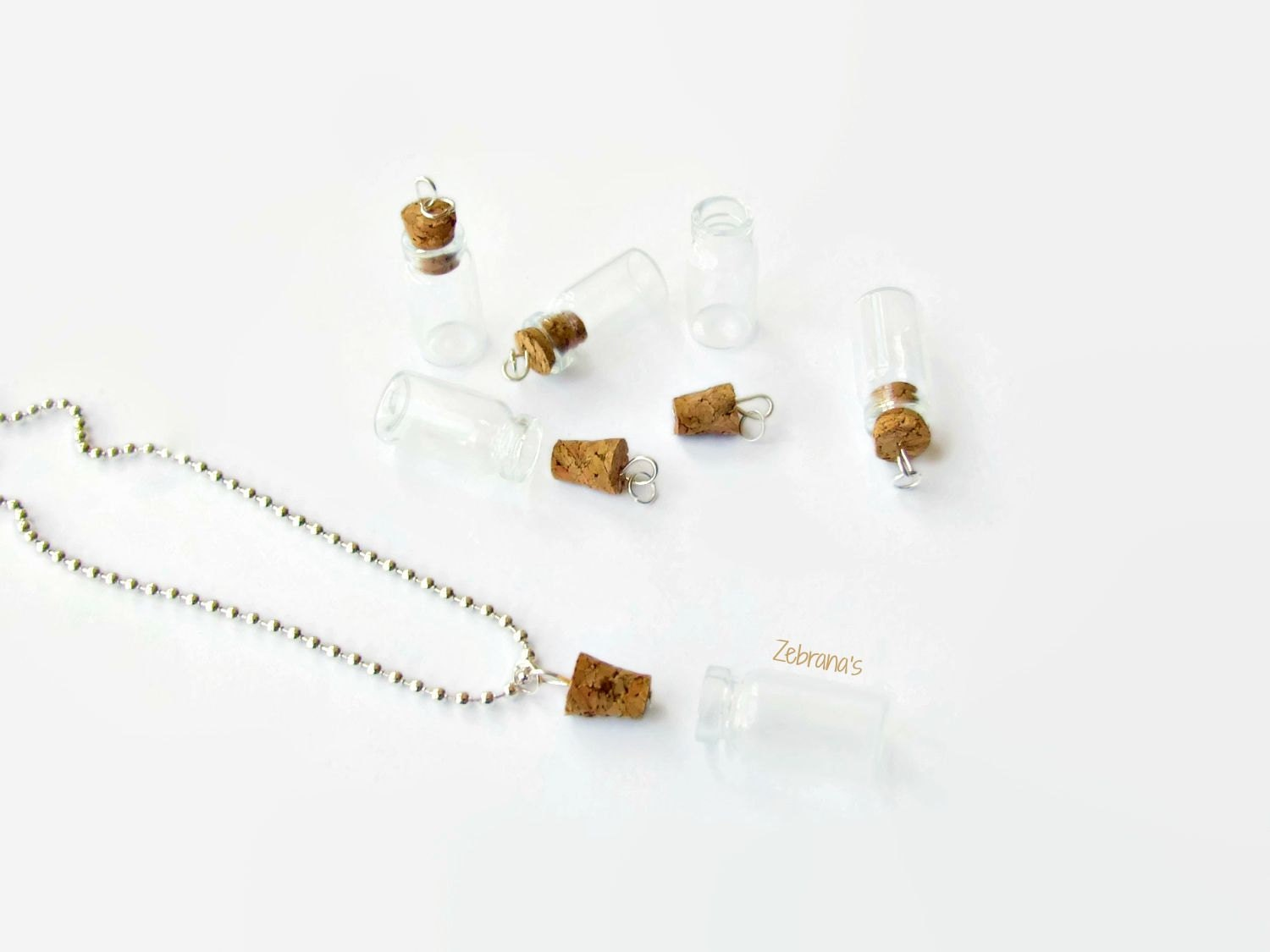 small empty vial necklace do it yourself set diy kit necklace