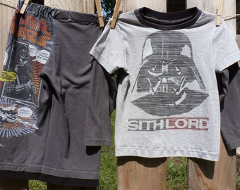 Star Wars Movie Children's Upcycled/recycled Pajama/Lounge Pants - 3t toddler