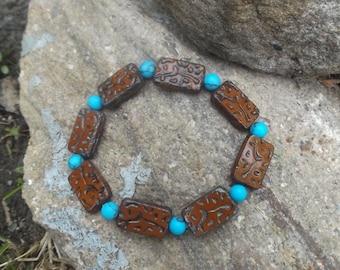 Brick stone bracelet