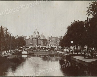 Amsterdam, Nieuwmarkt bazaar antique photo