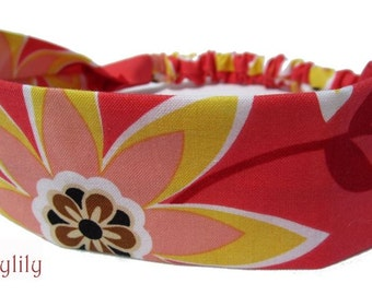 Coral Floral Headband by Sheylily