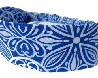 Blue White Headband by Sheylily