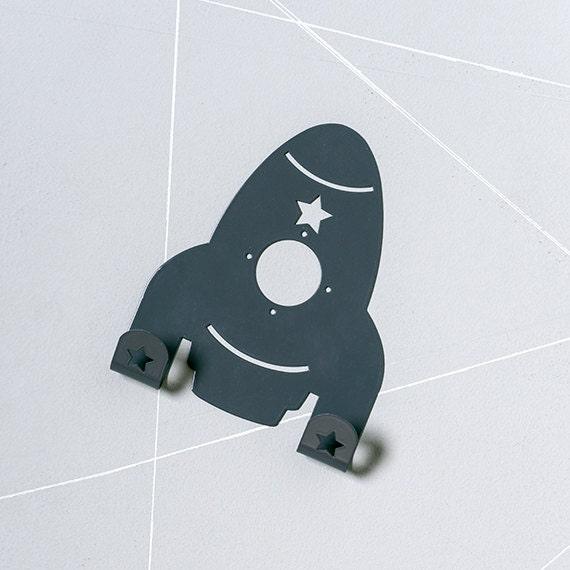 Retro Spaceship Coat Rack Space Rocket Towel Hook Colorful