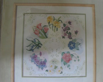 Hearts and Flowers Counted Cross Stitch Kit Unopened French Country Collection by Something Special