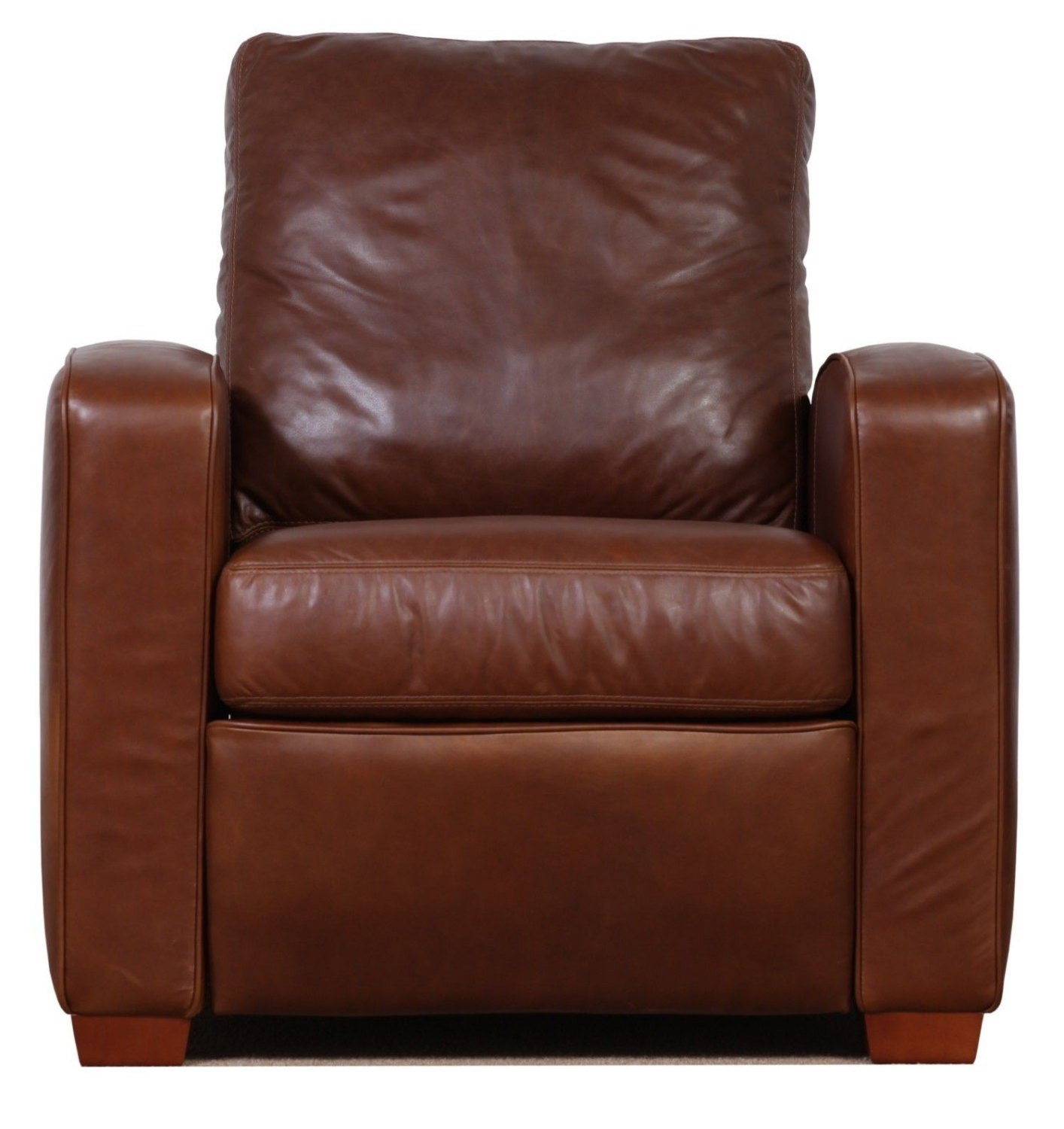 genuine high end leather push up recliner chair