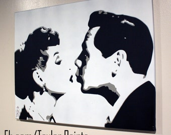 I Love Lucy (Lucy & Desi) Custom Hand Painted Acrylic on Canvas 16x20