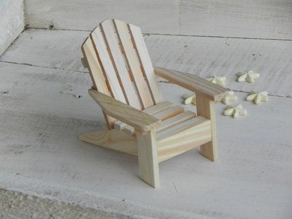 Miniature de chaise adirondack pr t peindre bois fournitures - Chaise adirondack france ...
