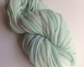 Handspun Thick and Thin Merino Yarn - 50 yds - Mint