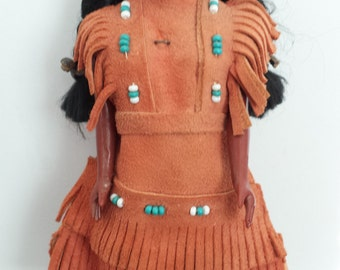 Native American Plastic Doll with Papoose