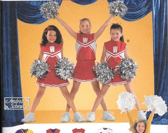 Simplicity 4040, Childs and Girls Cheerleader Suit, New Uncut Sewing Pattern, size 8-10-12, DIY Cheerleading suit