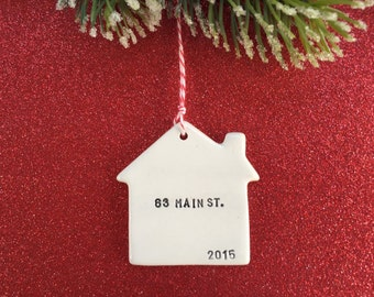 new home personalized ornament with your name address date
