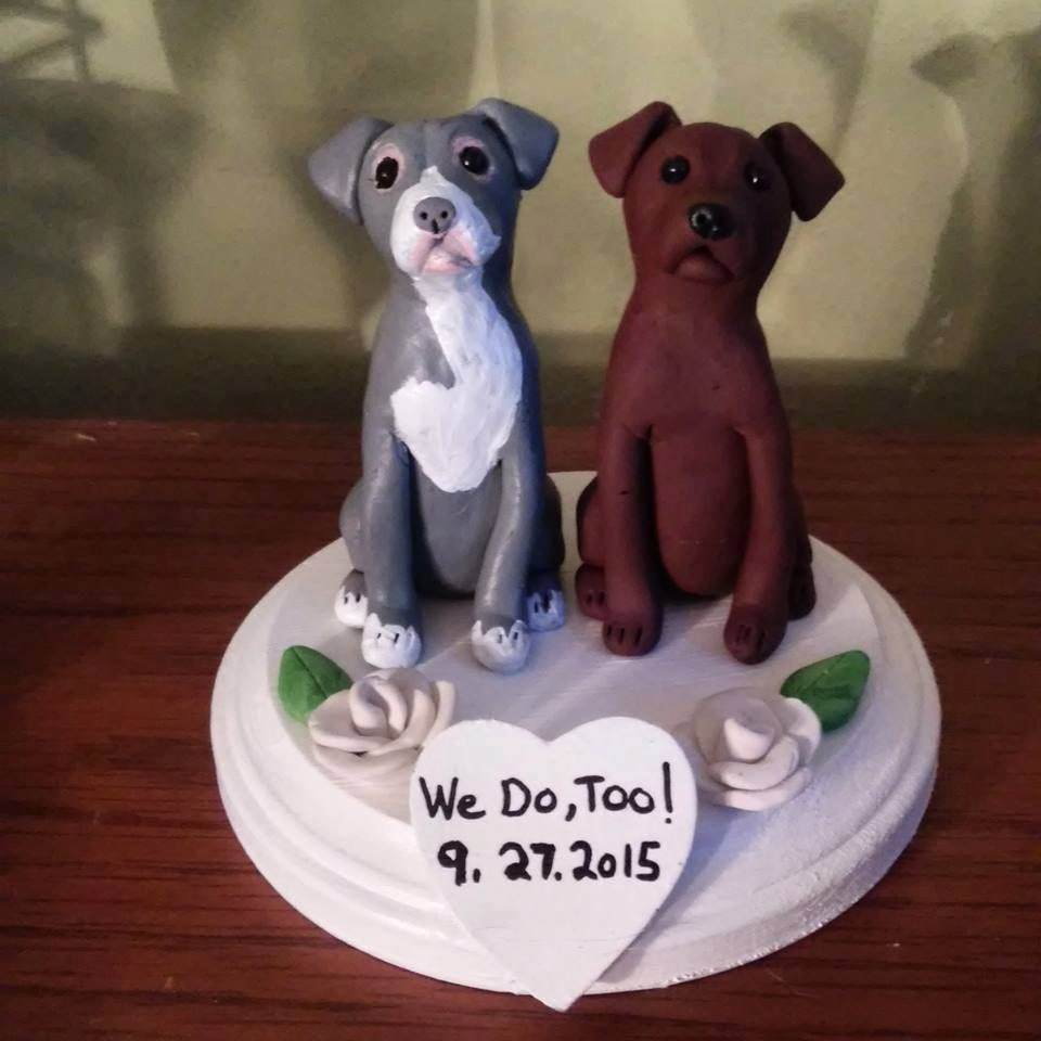 etsy wedding cake topper dog custom made wedding cake toppers groom s cake pit 14051