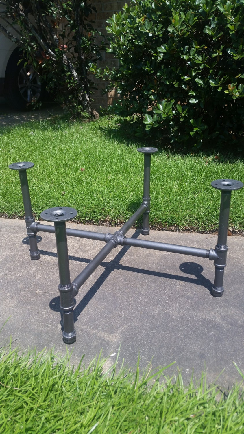 Industrial Pipe Leg Set For Coffee Table X Base