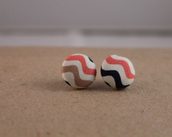 Vintage button earring
