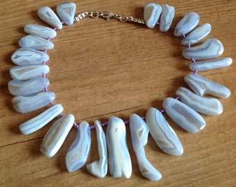 Chalcedony Blue Necklace