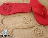 Smiley Flip Flops Sand Imprint Design Your Own Fun Smile