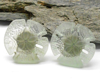 Knobs, Sand Dollar Knobs, Cabinet Knobs, Sea Foam Green Sand Dollar Knobs,