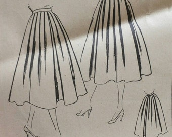 50s Vogue skirt sewing pattern 8031 Waist 24 Hip 33 inches vintage retro sewing