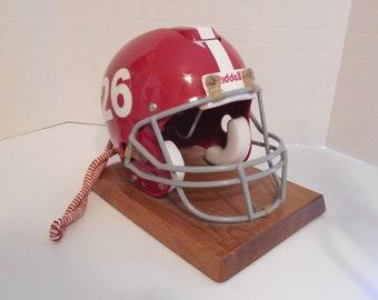 Vintage Alabama Crimson Tide Riddell Helmet Telephone Full Size Riddell Crimson Tide Football Helmet 26 Trimline Push Button 1980's Works
