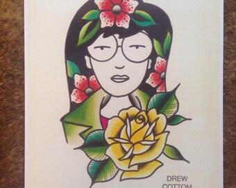 Traditional Daria Print
