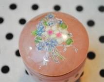 Petite Pink Floral Jar