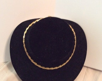 Gold toned chain necklace 16 in