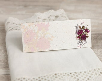 Botanical Plum Flower Wedding Place Cards - (set of 50)