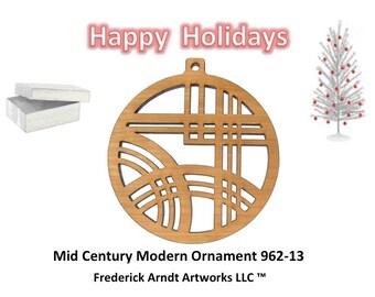 962-13 Mid Century Modern Christmas Ornament