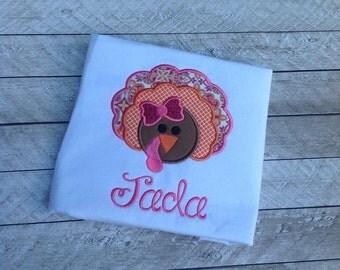 Thanksgiving Turkey Applique Shirt