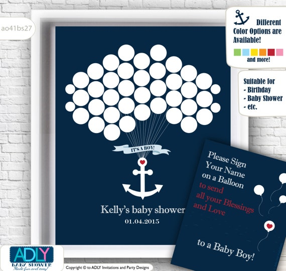 book alternative for baby shower with anchor birthday briday shower