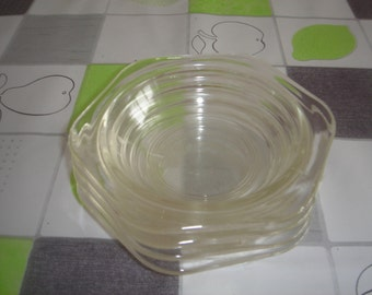 Pyrex Phoenix ware fluted glass bowls 1960's