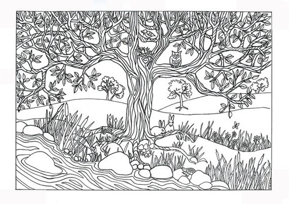 nature coloring pages print - photo#46