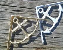 On Sale! Anchor wall bracket, nautical wall bracket, shelving, coastal cottage chic, nautical bookshelf, nautical shelving, anchor decor