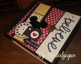 "Disney Mini Album 9"" x 8"" Say Cheese Simple Stories  PDF Tutorial"