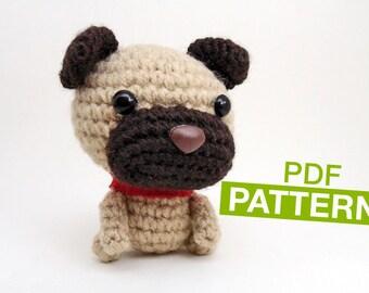 Cute Dog CROCHET PATTERN -  Instant Download. Amigurumi Dog Pattern.