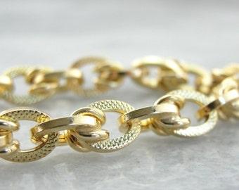 Vintage Gold Bracelet with Textured Links PEPAPV-D