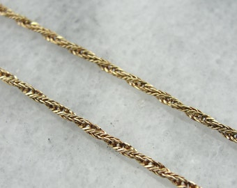 Gorgeous Woven Chain in Yellow Gold, Wear with Pendant or Alone 7MZHWJ-R