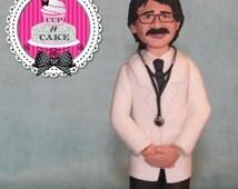 Custom likeness Man fondant cake topper!