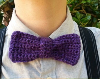 One Color Crochet Bow Tie