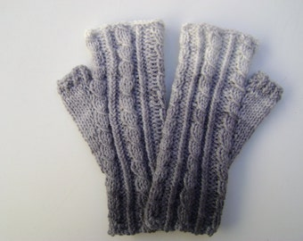 Grey Handwarmers/ Fingerless Gloves. Ready to Ship.