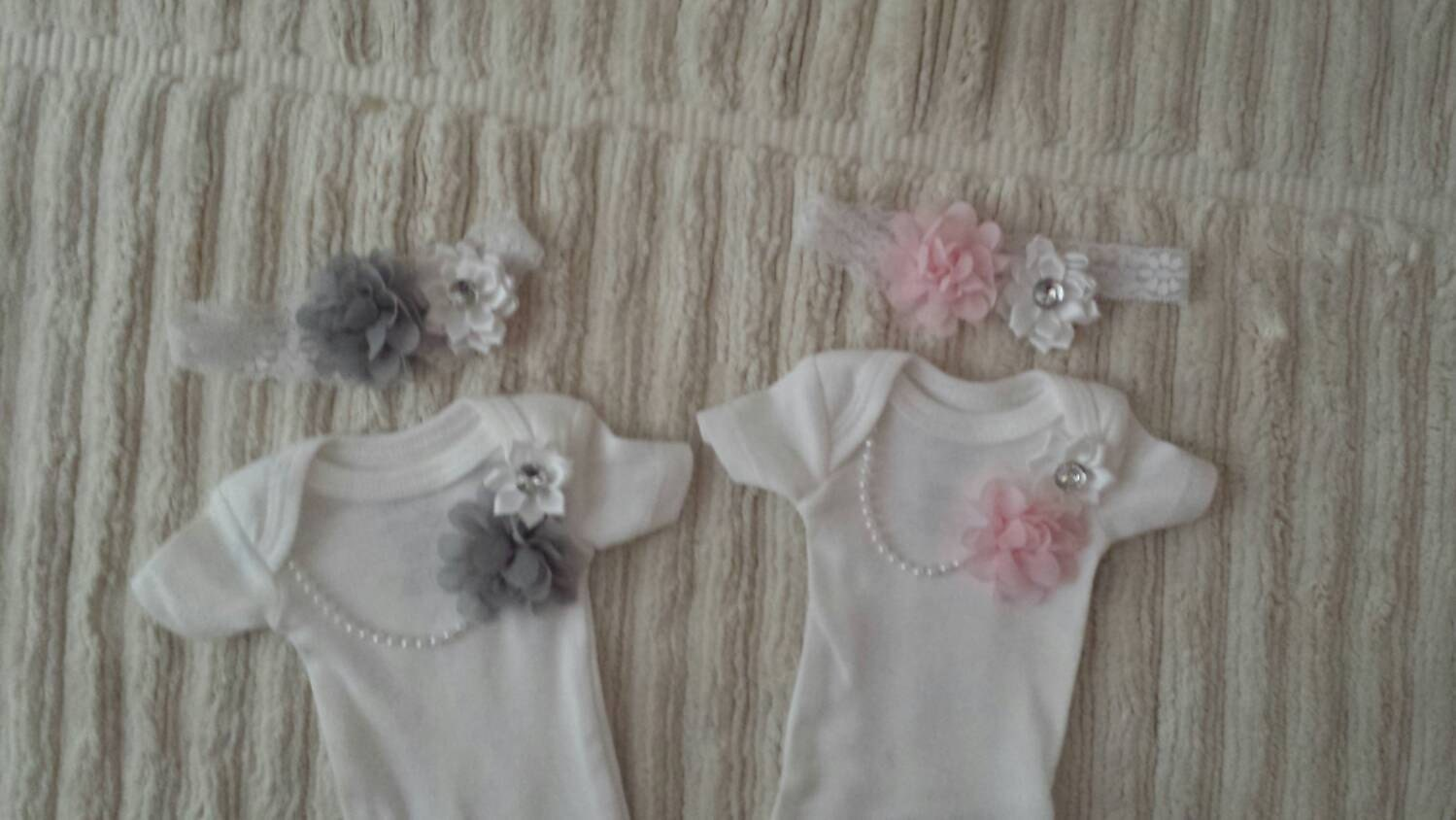 Preemie TWINS 4 PIECES Preemie baby girls Baby clothes