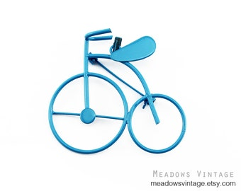 Blue Bike Brooch, Blue Bike Pin, Blue Bicycle Brooch. Blue Bicycle Pin, Blue Bike Pendant, Blue Bicycle Pendant