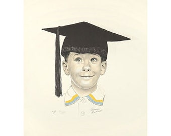 The Big Day Norman Rockwell Lithograph Unframed Hand Signed by Rockwell Published by Circle Fine Art Corporation