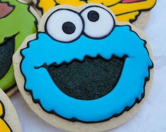 Cookie Monster Inspired Cookies