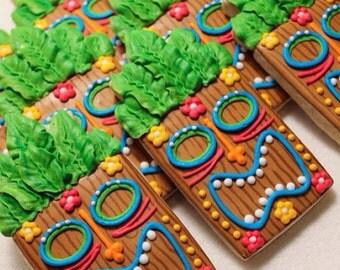 Tiki Statue Cookies